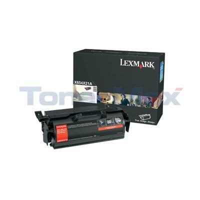 LEXMARK X654DE PRINT CART BLACK 36K